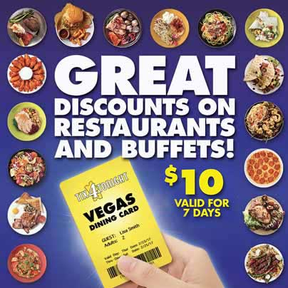 Vegas Dining Discount Card