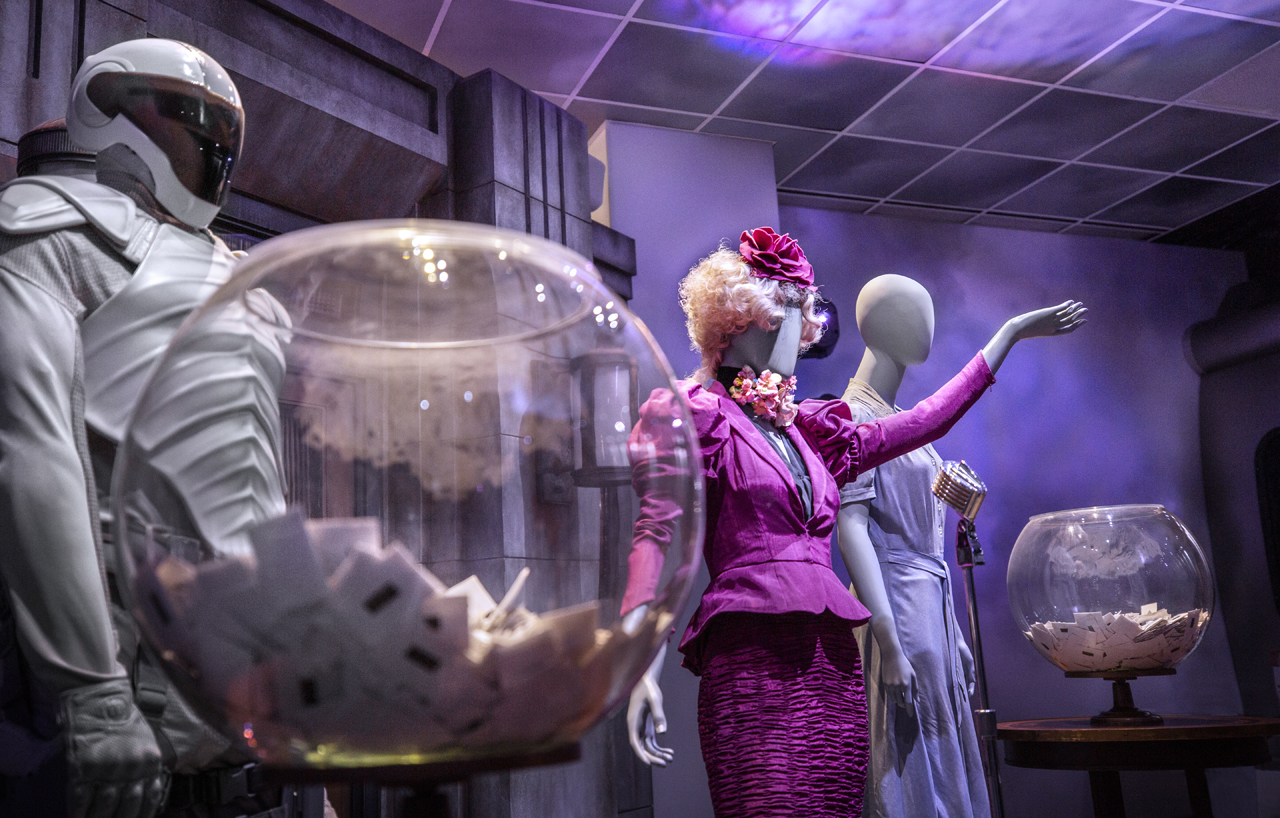 The Hunger Games The Exhibition Vegas Effie Trinket Costume