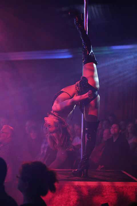 X Burlesque Pole Dancer