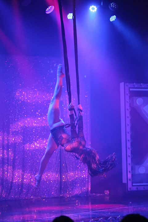 X Burlesque Silks Dancer